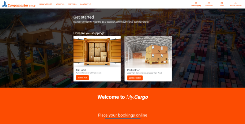 My.Cargo Landing Page